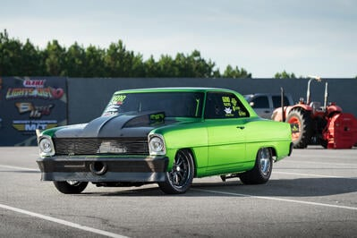Ryan Milliken's Oil-Burning Chevy II is Turning Heads in Radial Racing